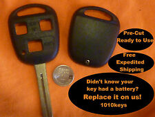 REPAIR your 3 BUTTON REMOTE FOB KEYS to our PRE-CUT QUALITY SHELLS / KEY
