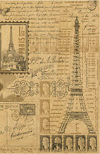 Framed Print - Vintage French Papers Showing The Eiffel Tower (Picture Poster)