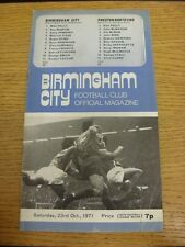 23/10/1971 Birmingham City v Preston North End  (Creased). Trusted sellers on eb