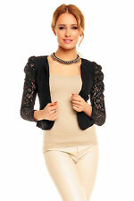 Ladies Lace Bolero Shrug Smart Jacket Cardigan Top Evening Wedding Size 6  8 10