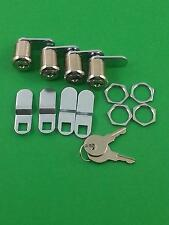 "RV Motorhome Trailer Storage 7/8"" Door Cam Lock Set Of 4 Prime Products 18-3315"