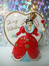 ANTIQUE VTG TO MY VALENTINE PLANTER VASE~QUEEN OF HEARTS~HEART SHAPE~UNMARKED