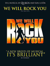 Queen: We Will Rock You. Sheet Music for Piano, Voice, and Guitar Chord Boxes, ,