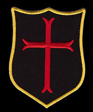 CRUSADER CROSS SHIELD  TACTICAL COMBAT INFIDEL MORALE CHRISTIAN HOOK LOOP PATCH