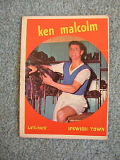 Vtg 60s A&BC Football Card No.33 Ken Malcolm Ipswich Town Black back Bubble gum