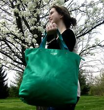 KATE SPADE NEW YORK NYLON KELLY GREEN TOTE BON SHOPPER CLASSIC