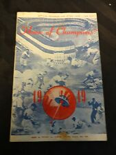 1949 New York Yankees vs Boston Red Sox Official Program and Score Card