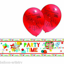 6 Piece Adorable In The Night Garden Children's Party Foil Banner & Balloons Set