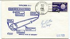 1961 Explorer XII Thor-Delta Space Probe Orbital Path Port Canaveral NASA SIGNED