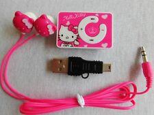 Hello Kitty Kinder MP3-Player mit Clip-Geburtstag Geschenk Weihnachten Neu