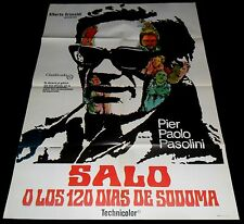 1975 Salò, or the 120 Days of Sodom ORIGINAL SPAIN POSTER Pier Paolo Pasolini
