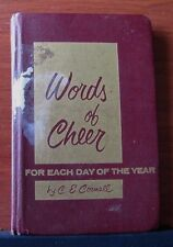 Words of Cheer for Each Day of the Year by C E Cornell - 1958 Hardcover