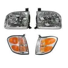 2001 - 2004 TOYOTA SEQUOIA HEADLIGHTS AND CORNER LAMPS LIGHTS COMBO