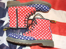 Blue and Red Spotty Dr Marten boots size 2  (Sep16)