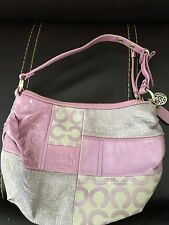 COACH Ali Lilac and Pink Pieced Patchwork Hobo Bag 42681 Purse NWOT