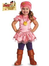 DISNEY CAPTAIN JAKE & THE NEVERLAND PIRATES IZZY COSTUME TODDLER SIZE S 2T NIP