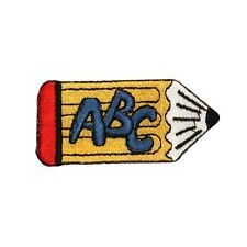 ID 0936A Pencil ABC School Learning Reading Writing Embroidered Applique Patch