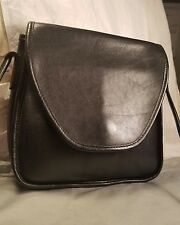 VINTAGE COACH BLACK LEATHER SLIM DUFFLE CROSS BODY PURSE♡ BEAUTIFUL INSIDE & OUT