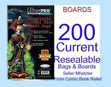 200 CURRENT ULTRA PRO - RESEALABLE -BAGS AND BOARDS FOR COMIC BOOKS