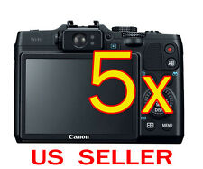 5x Canon PowerShot G16 Camera Clear LCD Screen Protector Guard Shield Film