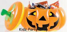 "Halloween Party - 12"" Inflatable Pumpkin Bowl and Lid Treats - Free Post in UK"