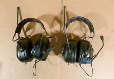 Lot of 2 3M Peltor Litecom MT53H7A4900 49MHz 5-Channel 2-Way Radio Headset