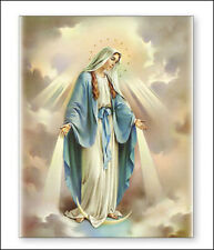 VIRGIN MARY OUR LADY CANVAS PICTURE - STATUES CANDLES CRUCIFIXES ALSO LISTED