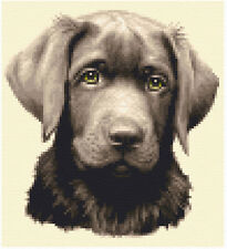 CHOCOLATE LABRADOR dog - full counted cross stitch kit - All materials supplied