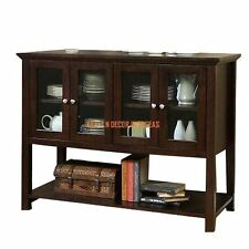 Comtempory Kitchen Cabinet Cum Display Cabinet Of Shesham Wood In Brown Colour
