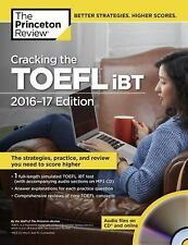 2-DAY SHIPPING   Cracking the TOEFL iBT with Audio CD, 2016-17 Editio, PAPERBACK