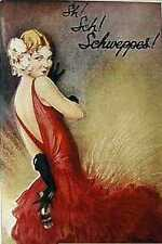 Retro Sch! Schweppes Lady Red Metal Sign Plaque