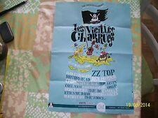 FLYER 30X42 PROGRAMME SPECTACLE DE VIEILLES CHARRUES CARHAIX 2008 ZZTOP DAHO MAE