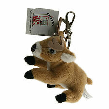 "Stuffed Animal House 4"" White Tailed Deer Soft Plush Keychain Zipper Pull NWT"
