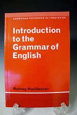 Introduction to the Grammar of English by Rodney Huddleston 2000 Reprinted UK