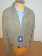 Faconnable 100% Lambs Leather Suede Jacket NWT XXL Euro 58 $1995 Made in Italy