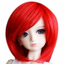 [wamami] 43# Red Short Straight Wig 1/4 MSD AOD DOD DZ BJD Dollfie 7-8""