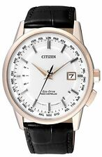 Citizen Eco-Drive Radio Control Mens Leather Watch. Sapphire Glass CB0153-13A