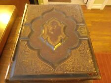 1873 Antique Holy Bible Old and New Testament Philadelphia: William W. Harding