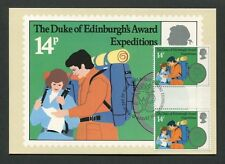 GB UK MK DUKE OF EDINBURGH`S AWARD GUTTER PAIR !! MAXIMUM CARD MC CM 60552