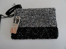 Furla Black Leather & Silver Zipped Purse New with Tags + Dust Bag
