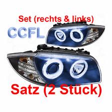 Set Scheinwerfer BMW 1er E87 04-11 klarglas/schwarz CCFL Angel Eyes H7+H7 AGO
