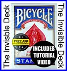 Magic Trick The Invisible Deck Blue, Dynamo, David Blaine, Bicycle Cards, New