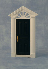 Painted Skylight Front Door, Dolls House Door, Black Exterior Door.