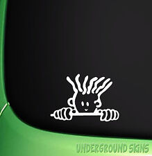PEEPING FIDO DIDO FUNNY JDM DRIFT EURO WINDOW VINYL DECAL CAR STICKER
