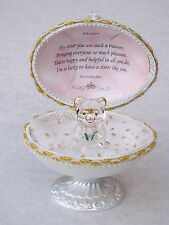 SISTER@Unique @Faberge - based Design@22kt @EASTER oeuf Gift@Glass @Love Verse@ROSE