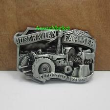 1 x mens ladies belt buckle quality metal australian farmer tractor jeans farm