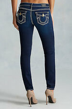 NWT TRUE RELIGION JEANS $319 CASEY SUPER T SKINNY PANTS IN INKY BLUE SZ 24