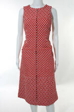 Chanel Red White Dotted Sleeveless 08P Shift Dress Size Eur 46 US 14