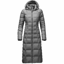 The North Mujeres Triple C II Parka Face plumas de ganso 550 Largo Abrigo Chaqueta Gris 10 M