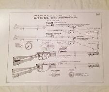 WW1 WW2 British Armourers SMLE Lee Enfield No1 Mkiii Rifle Drawing Schematics